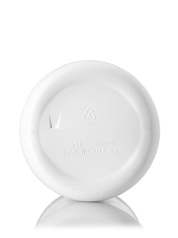 1 gallon white HDPE plastic industrial round bottle with 38-400 neck finish
