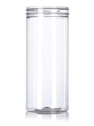 80 oz clear PET plastic jerky canister with 110-400 neck finish