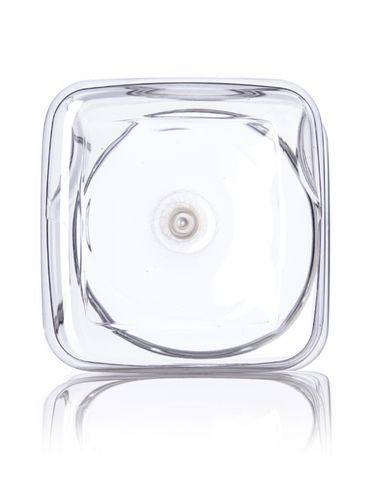 64 oz clear PET plastic square grip container with 110-400 neck finish