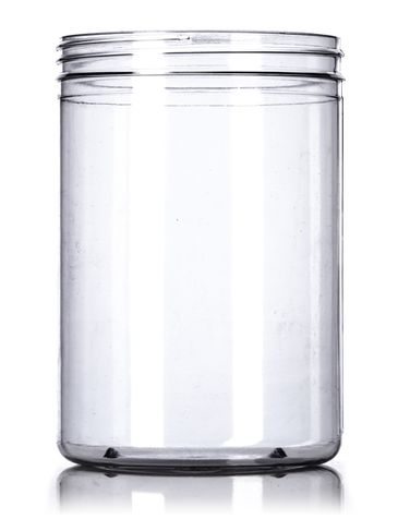 52 oz clear PVC plastic single wall canister with 110-400 neck finish