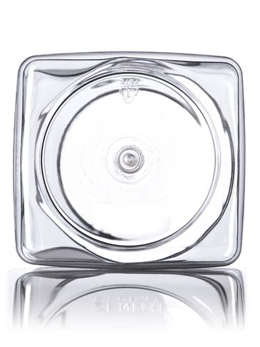 48 oz clear PET plastic square grip container with 89-400 neck finish