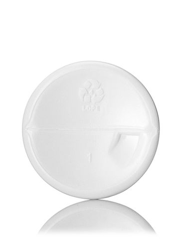 2 oz white HDPE plastic cosmo round bottle with 20-410 neck finish