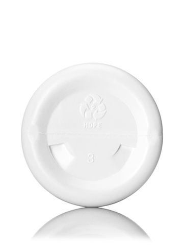 4 oz white HDPE plastic cosmo round bottle with 24-410 neck finish