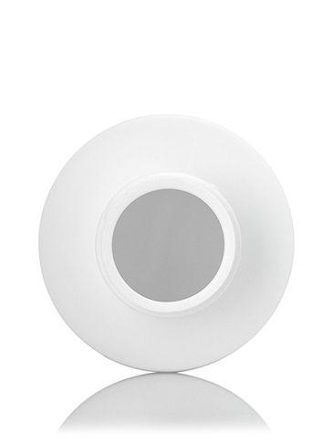 4 oz white HDPE plastic cylinder round bottle with 24-410 neck finish