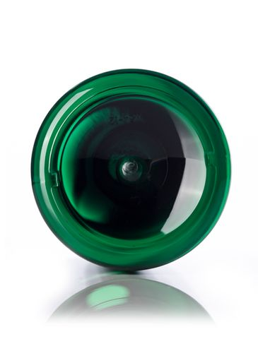 32 oz green PET plastic cosmo round bottle with 28-410 neck finish