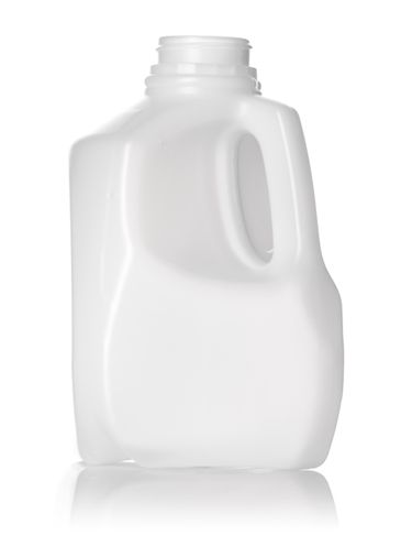 32 oz natural-colored HDPE plastic dairy bottle with 38-400 neck finish