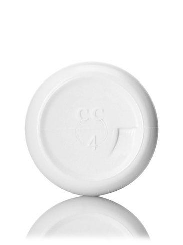 1 oz white LDPE plastic boston round bottle with 20-410 neck finish