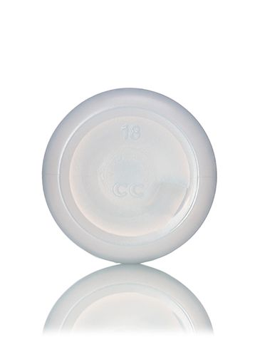 1 oz natural-colored HDPE plastic boston round bottle with 20-410 neck finish