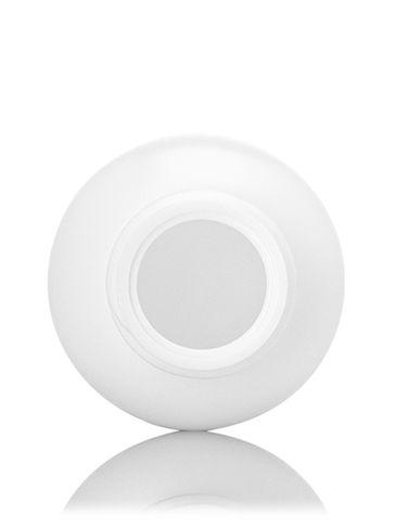 1 oz white HDPE plastic boston round bottle with 20-410 neck finish