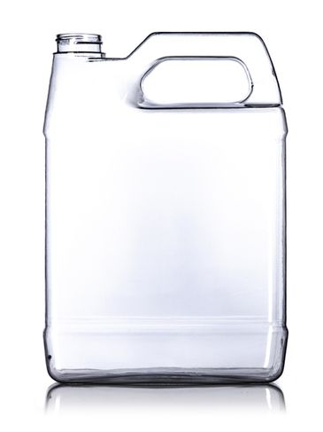 1 gallon clear PVC plastic f-style container with 38-400 neck finish (not food grade)