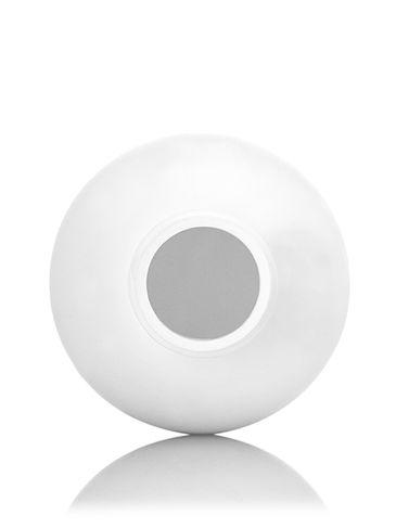 8 oz white HDPE plastic diamond round bottle with 24-410 neck finish