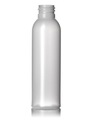4 oz natural HDPE plastic bullet round bottle with 20-410 neck finish
