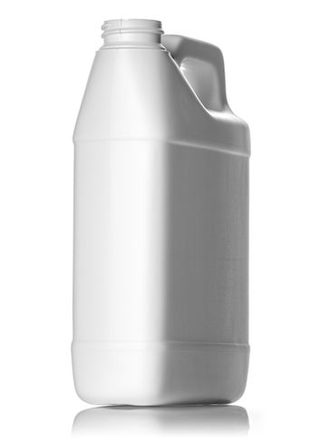 32 oz white HDPE plastic f-style container with 33-400 neck finish
