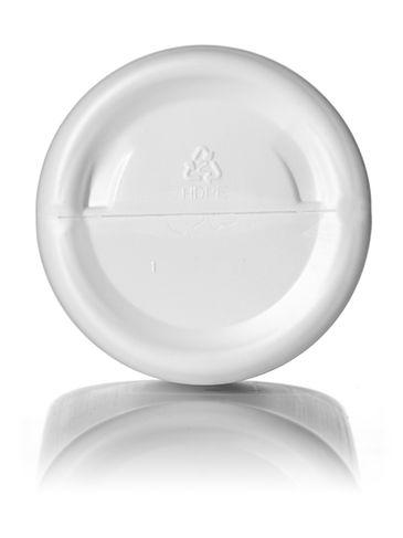 32 oz white HDPE plastic cylinder round bottle with 28-410 neck finish