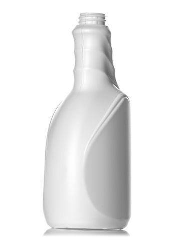 24 oz white HDPE plastic euro twist grip sprayer bottle with 28-400 neck finish