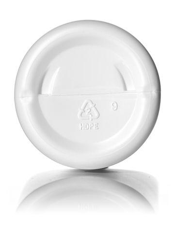 16 oz white HDPE plastic cylinder round bottle with 24-410 neck finish