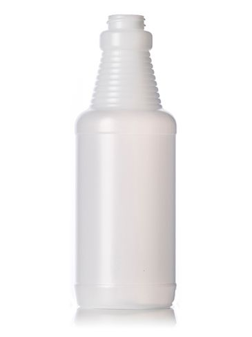16 oz natural-colored HDPE plastic sprayer bottle with 28-400 neck finish