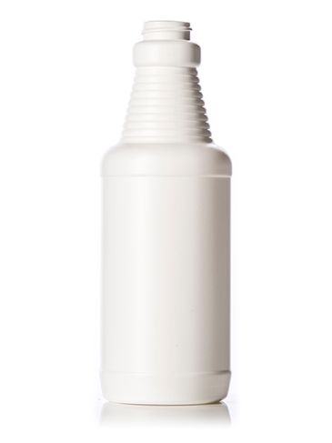 16 oz white HDPE plastic decanter sprayer bottle with 28-400 neck finish