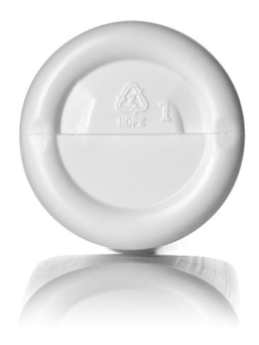 16 oz white HDPE plastic imperial round bottle with 24-410 neck finish