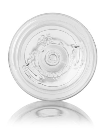 16 oz clear PET plastic bullet round bottle with 24-410 neck finish
