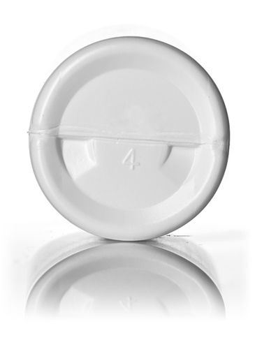 2 oz white HDPE plastic imperial round bottle with 20-410 neck finish