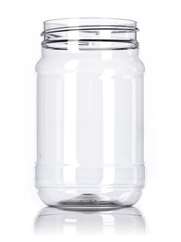 16 oz clear PET plastic spice bottle with 70-450G neck finish