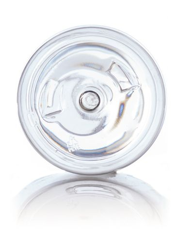 12 oz clear PET plastic boston round bottle with 24-410 neck finish