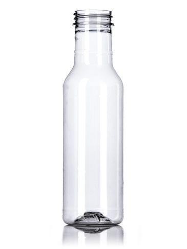 12 oz clear PET plastic sauce bottle with 38-400 neck finish