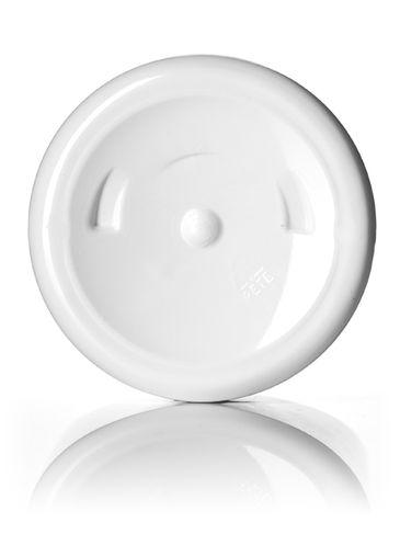 12 oz white PET plastic squat boston round bottle with 24-410 neck finish