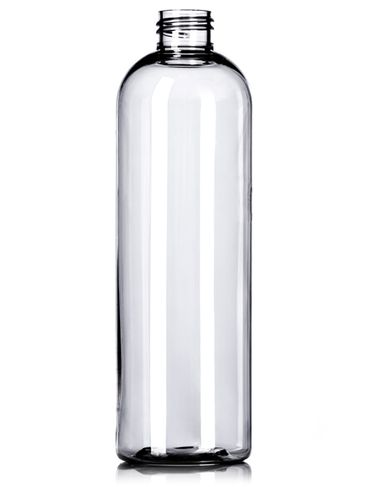 12 oz clear PET plastic cosmo round bottle with 24-410 neck finish