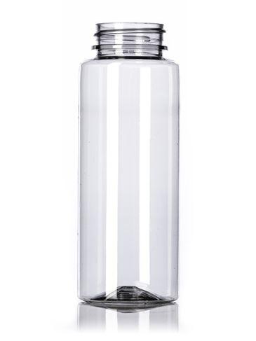 8 oz clear PET plastic honey bottle (12 oz of honey) with 38-400 neck finish