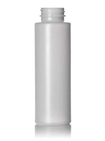 10 oz natural-colored HDPE plastic cylinder round bottle with 38-400 neck finish