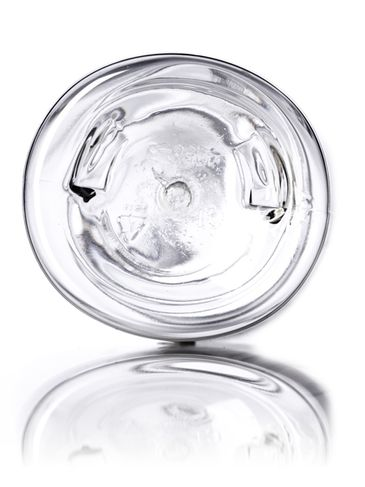 8 oz clear PET plastic tapered naples oval bottle with 24-410 neck finish