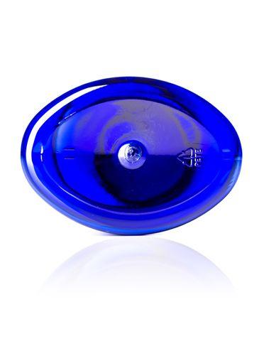 8 oz cobalt blue PET plastic capri oval bottle with 24-410 neck finish