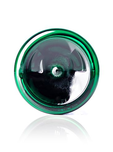 8 oz green PET plastic cosmo round bottle with 24-410 neck finish