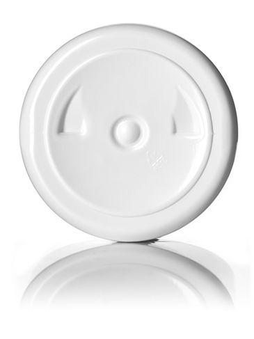 8 oz white PET plastic squat boston round bottle with 24-410 neck finish