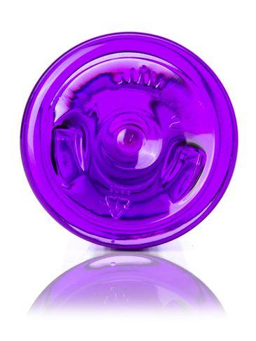 8 oz purple PET plastic bullet round bottle with 24-410 neck finish