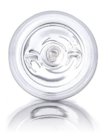 8 oz clear PET plastic boston round bottle with 24-410 neck finish