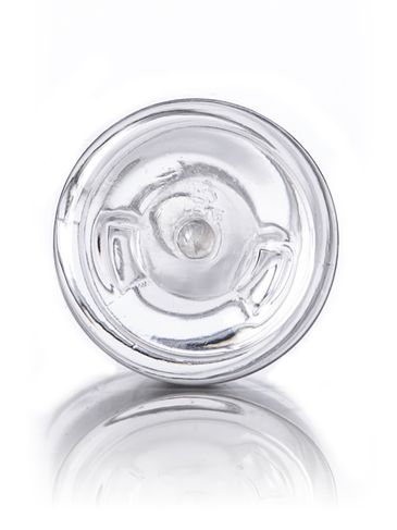 6 oz clear PET plastic imperial round bottle with 24-410 neck finish