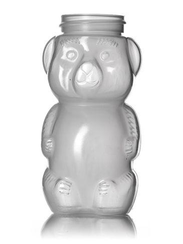 5 oz natural-colored LDPE plastic honey bear bottle (8 oz of honey) with 38-400 neck finish