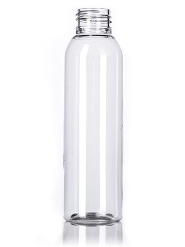 4 oz clear PET plastic bullet round bottle with 24-410 neck finish