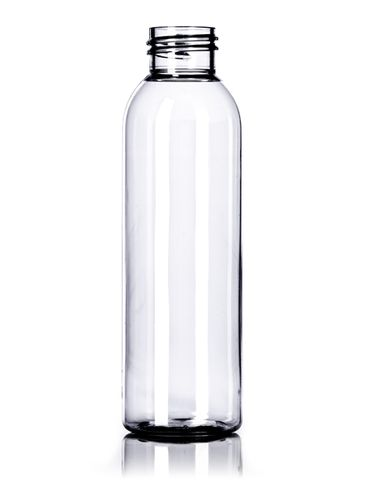 4 oz clear PET plastic cosmo round bottle with 24-410 neck finish