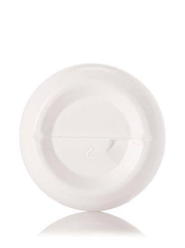 4 oz white LDPE plastic boston round bottle with cello ring with 20-410 neck finish