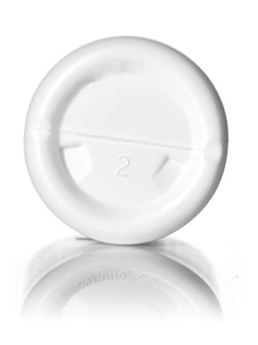 4 oz white HDPE plastic royalty round bottle with 24-410 neck finish