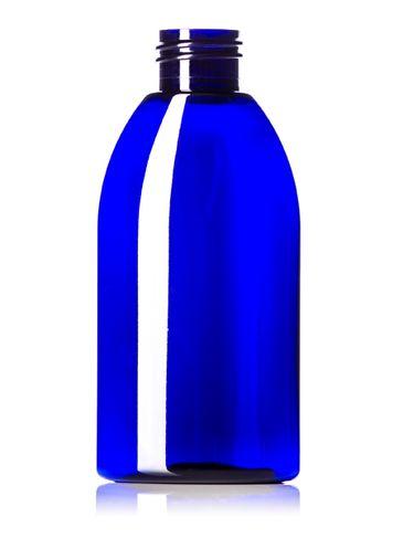 4 oz cobalt blue PET plastic capri oval bottle with 24-410 neck finish