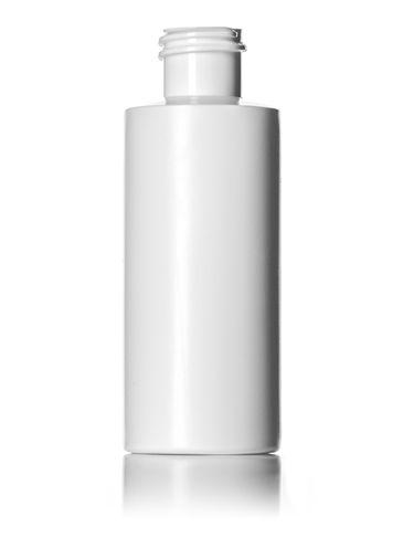 2 oz white LDPE plastic cylinder round bottle with 20-410 neck finish