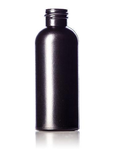 2 oz black HDPE plastic diamond round bottle with 20-410 neck finish