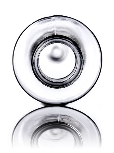 50 mL clear PET plastic cylinder round bottle with 20-410 neck finish