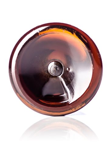 2 oz amber PET plastic boston round bottle with 20-410 neck finish