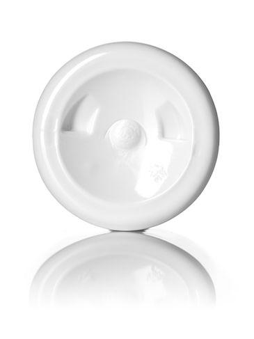 2 oz white PET plastic boston round bottle with 20-410 neck finish